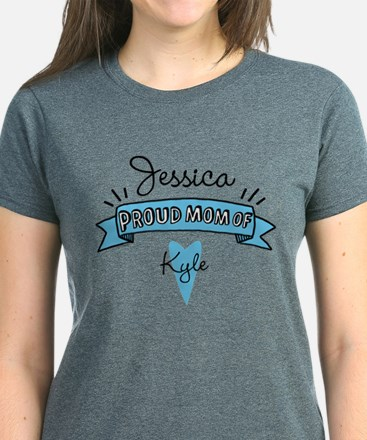 Proud Mom Of Son Women's Dark T-Shirt