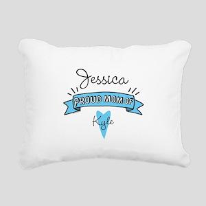 Proud Mom Of Son Rectangular Canvas Pillow