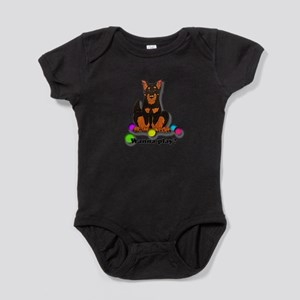 Beauceron Wanna Play Baby Bodysuit