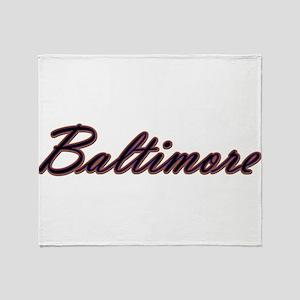 Warzone Baltimore Throw Blanket