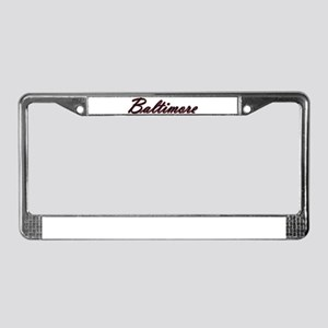Warzone Baltimore License Plate Frame