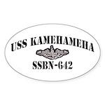 USS KAMEHAMEHA Sticker (Oval)