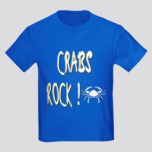 Crabs Rock ! Kids Dark T-Shirt