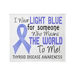 Thyroid Disease MeansWorldToMe2 Throw Blanket