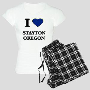I love Stayton Oregon Women's Light Pajamas