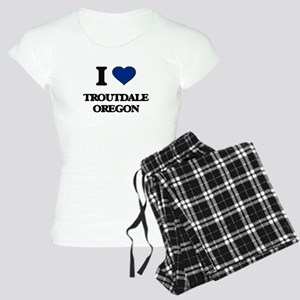 I love Troutdale Oregon Women's Light Pajamas