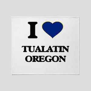 I love Tualatin Oregon Throw Blanket