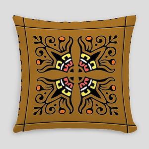Folk Art Tiles Everyday Pillow
