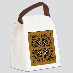 Folk Art Tiles Canvas Lunch Bag