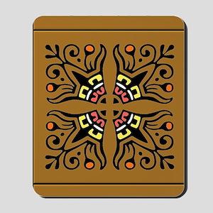 Folk Art Tiles Mousepad