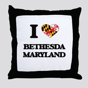 I love Bethesda Maryland Throw Pillow