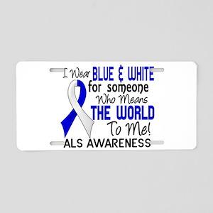 ALS MeansWorldToMe2 Aluminum License Plate