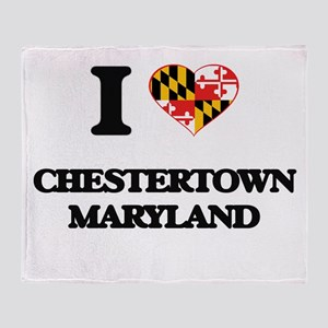 I love Chestertown Maryland Throw Blanket