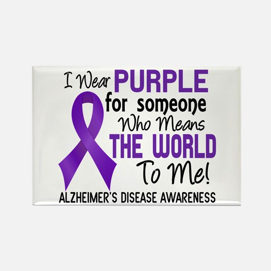 Alzheimer's MeansWorldToMe2 Rectangle Magnet