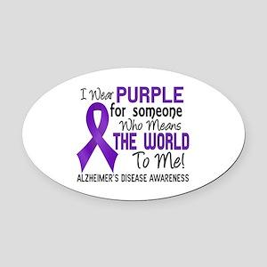 Alzheimer's MeansWorldToMe2 Oval Car Magnet