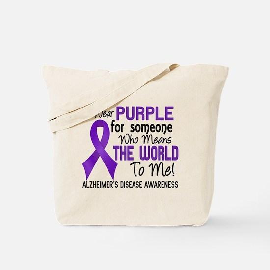 Alzheimer's MeansWorldToMe2 Tote Bag