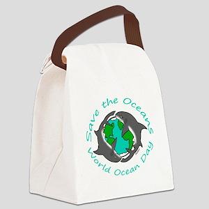 World Ocean Day Canvas Lunch Bag