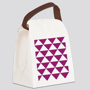 Grape Purple Triangles Canvas Lunch Bag