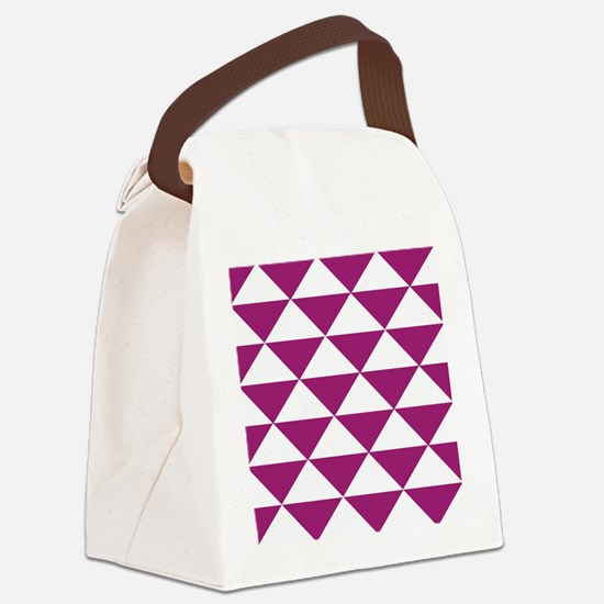 Grape Purple Triangles Canvas Lunch Bag