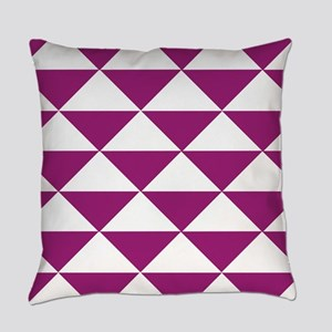 Grape Purple Triangles Everyday Pillow