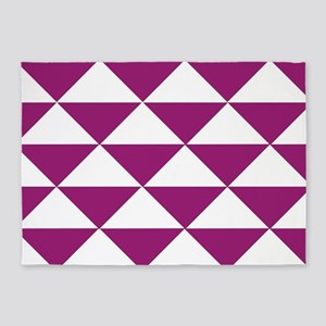 Grape Purple Triangles 5'x7'Area Rug