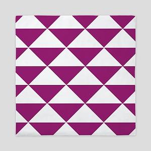 Grape Purple Triangles Queen Duvet