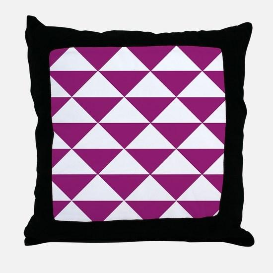 Grape Purple Triangles Throw Pillow