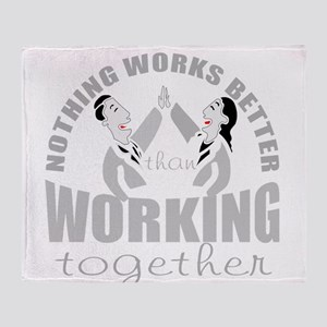 total teamwork Throw Blanket