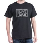 Pit Bull Not Crime Dark T-Shirt