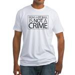 Pit Bull Not Crime Fitted T-Shirt