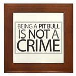 Pit Bull Not Crime Framed Tile