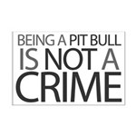 Pit Bull Not Crime Mini Poster Print