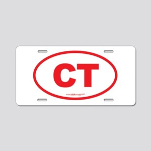 Connecticut CT Euro Oval RE Aluminum License Plate