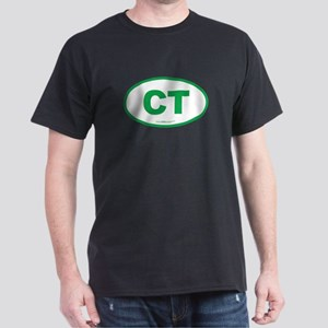 Connecticut CT Euro Oval Dark T-Shirt