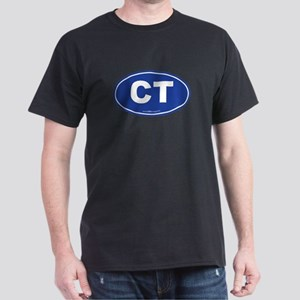 Connecticut CT Euro Oval BLUE Dark T-Shirt