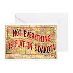 Flat S Dakota Greeting Card