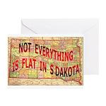 Flat S Dakota Greeting Cards (Pk of 10)