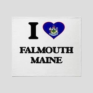 I love Falmouth Maine Throw Blanket