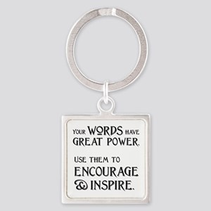 INSPIRE Square Keychain