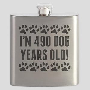 Im 490 Dog Years Old Flask