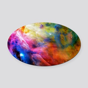 Hubble 1 Orion Nebula M42 Oval Car Magnet