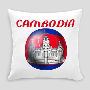 Cambodia Soccer Everyday Pillow