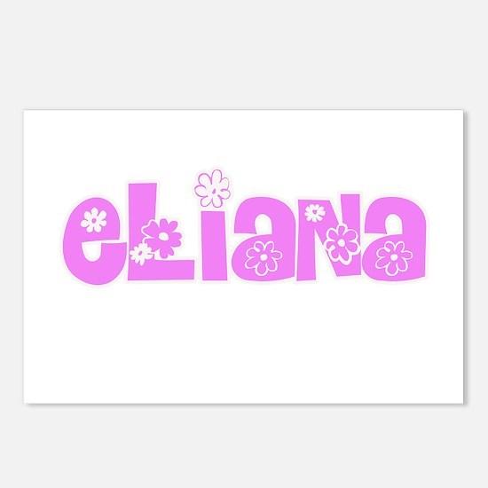 Eliana Flower Design Postcards (Package of 8)