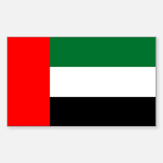 United Arab Emirates Flag Rectangle Decal