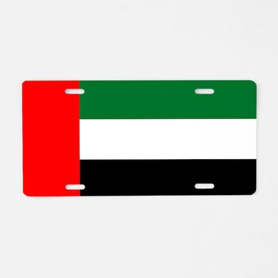 United Arab Emirates Flag Aluminum License Plate