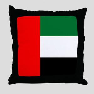 United Arab Emirates Flag Throw Pillow