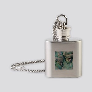 Fancy Dress Couple Flask Necklace