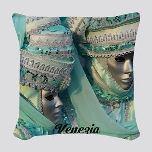 Fancy Dress Couple Woven Throw Pillow