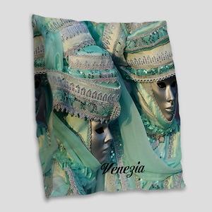 Fancy Dress Couple Burlap Throw Pillow