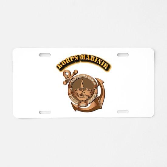 Korps Marinir- With Text Aluminum License Plate